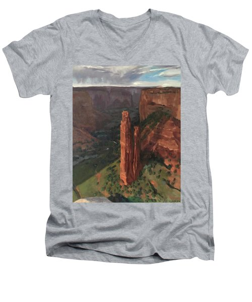 Spider Rock, Canyon De Chelly Men's V-Neck T-Shirt