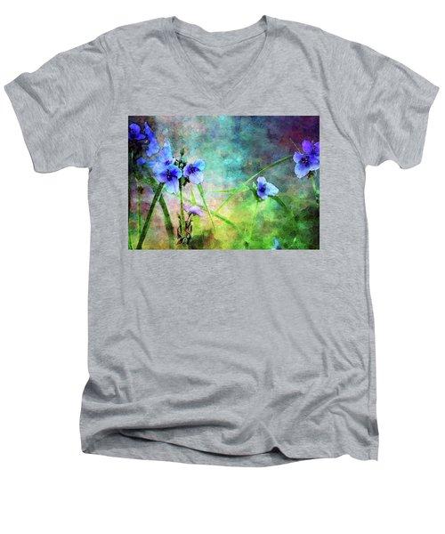 Spiderwort Dance 0115 Idp_2 Men's V-Neck T-Shirt