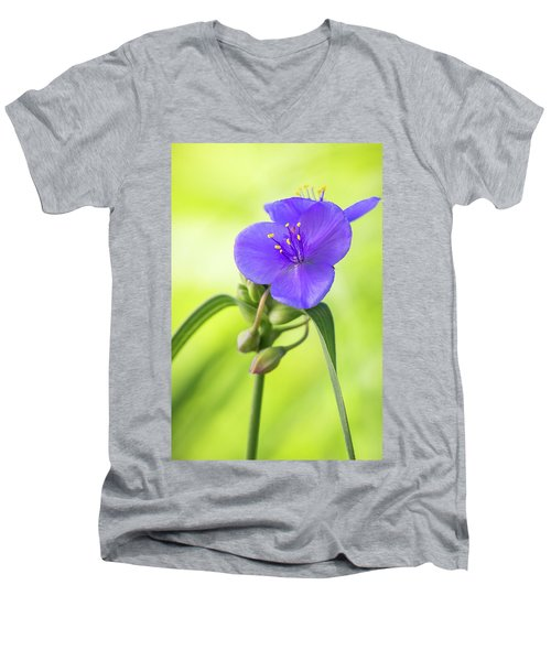 Spiderwort Wildflower Men's V-Neck T-Shirt