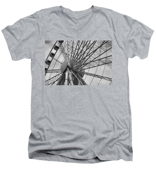 Spining Wheel  Men's V-Neck T-Shirt