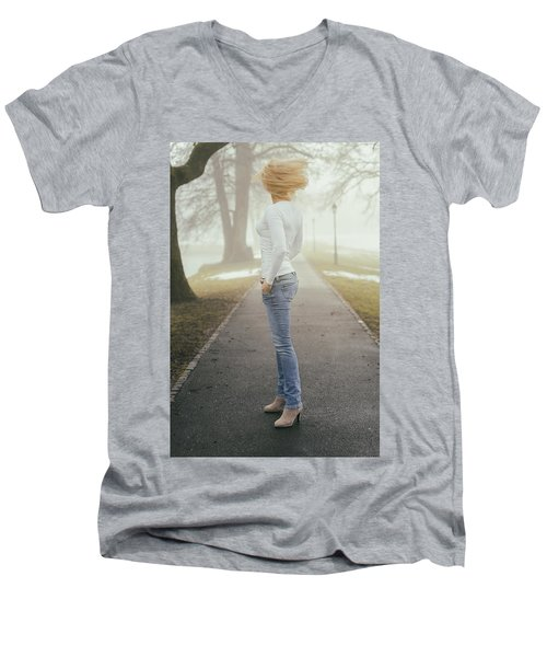Spinning Men's V-Neck T-Shirt