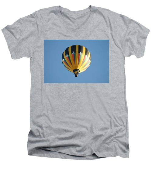 Men's V-Neck T-Shirt featuring the digital art Spinning Top by Gary Baird