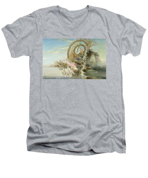 Spiral Of Time Men's V-Neck T-Shirt