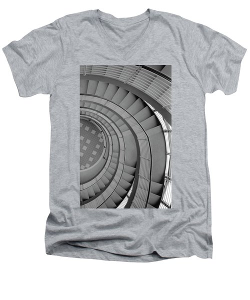 Spiraling Down  Men's V-Neck T-Shirt by Tara Lynn