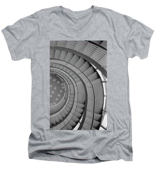 Men's V-Neck T-Shirt featuring the photograph Spiraling Down  by Tara Lynn