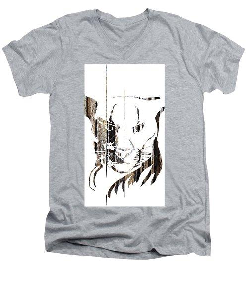 Spirit Animal . Cougar Men's V-Neck T-Shirt