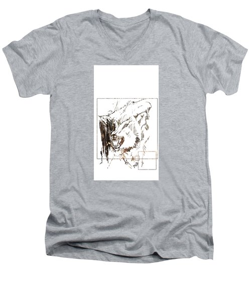 Spirit Animal . Wolf Men's V-Neck T-Shirt
