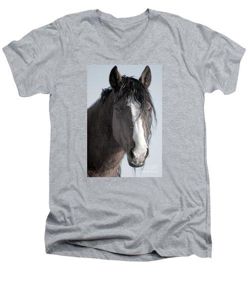 Spirit Horse Men's V-Neck T-Shirt by Lula Adams