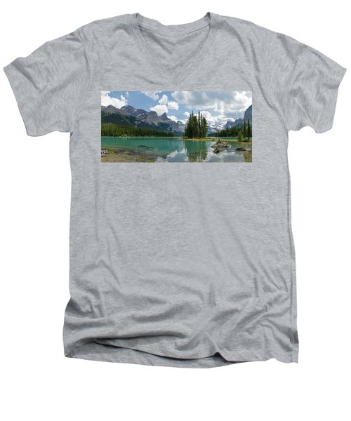 Men's V-Neck T-Shirt featuring the photograph Spirit Island And The Hall Of The Gods by Sebastien Coursol