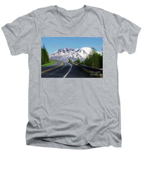 Spirit Lake Highway To Mt. St. Helens Men's V-Neck T-Shirt