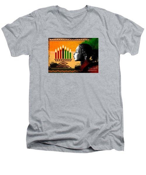 Spirit Of Kwanzaa Men's V-Neck T-Shirt