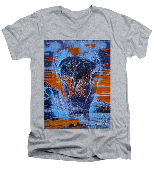 Spirit Of The Buffalo Men's V-Neck T-Shirt