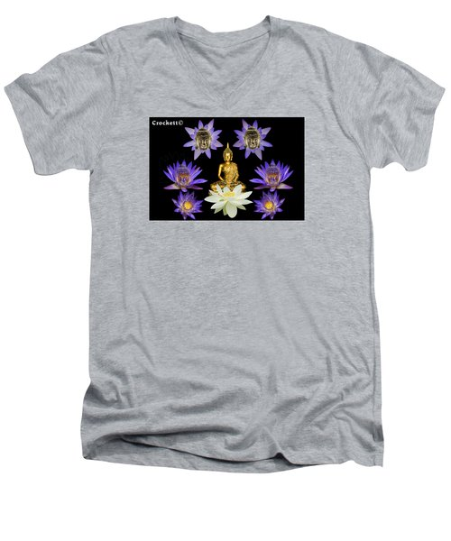Spiritual Water Lilly Men's V-Neck T-Shirt