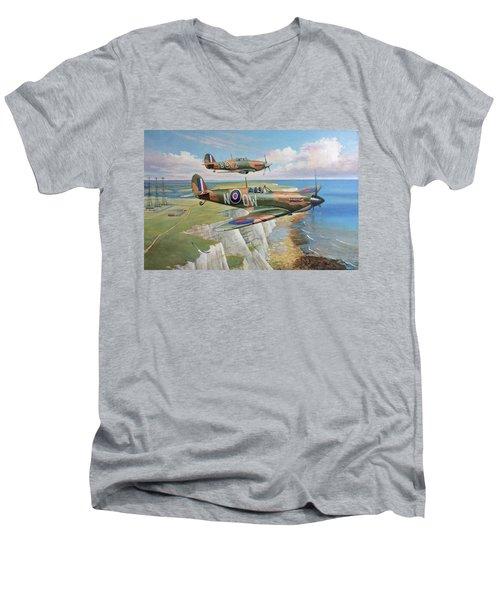 Spitfire And Hurricane 1940 Men's V-Neck T-Shirt
