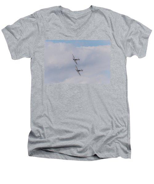 Spitfire Formation Pair Men's V-Neck T-Shirt