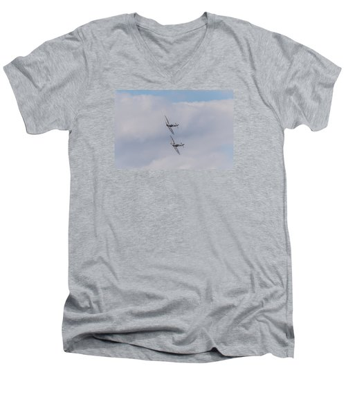 Spitfire Formation Pair Men's V-Neck T-Shirt