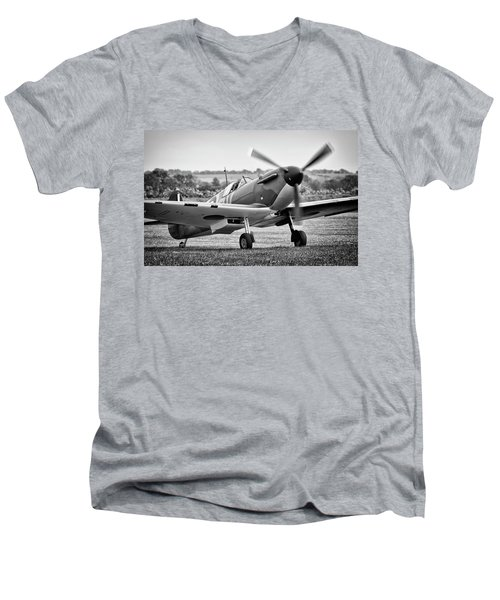 Spitfire Mk1 Men's V-Neck T-Shirt by Ian Merton