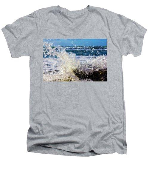 Wave Crash And Splash Men's V-Neck T-Shirt