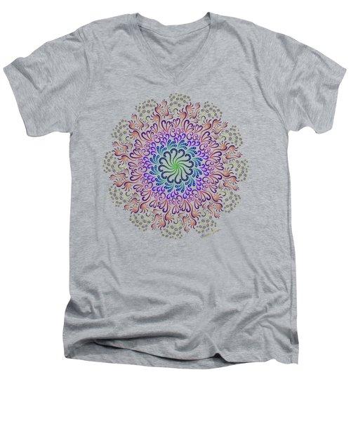 Splendid Spotted Swirls Men's V-Neck T-Shirt
