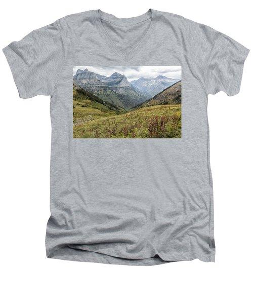 Splendor From Highline Trail - Glacier Men's V-Neck T-Shirt