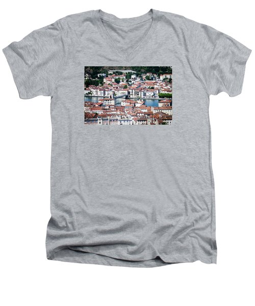 Men's V-Neck T-Shirt featuring the photograph Split Down The Middle by Jason Smith