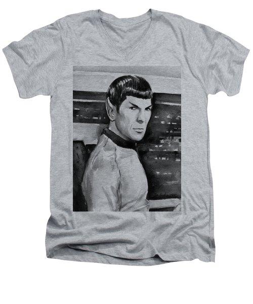 Spock Men's V-Neck T-Shirt by Olga Shvartsur