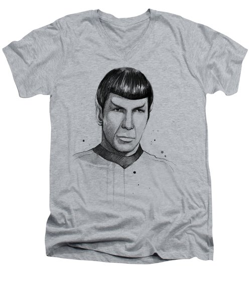Spock Watercolor Portrait Men's V-Neck T-Shirt