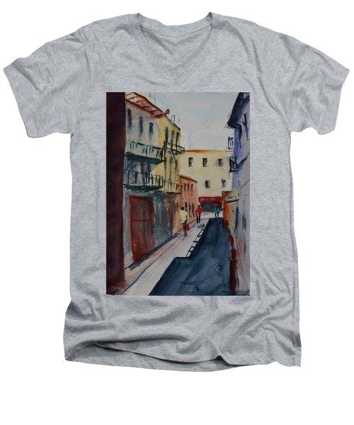 Spofford Street2 Men's V-Neck T-Shirt by Tom Simmons