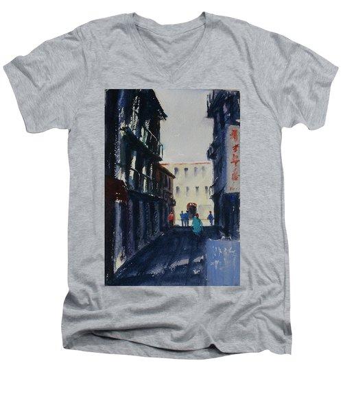 Spofford Street4 Men's V-Neck T-Shirt by Tom Simmons