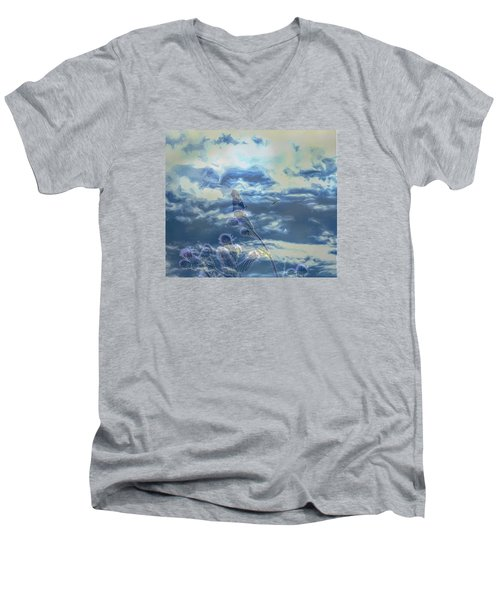 Men's V-Neck T-Shirt featuring the photograph Spooky by Leif Sohlman