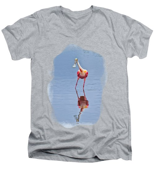Spoonbill 1 Men's V-Neck T-Shirt