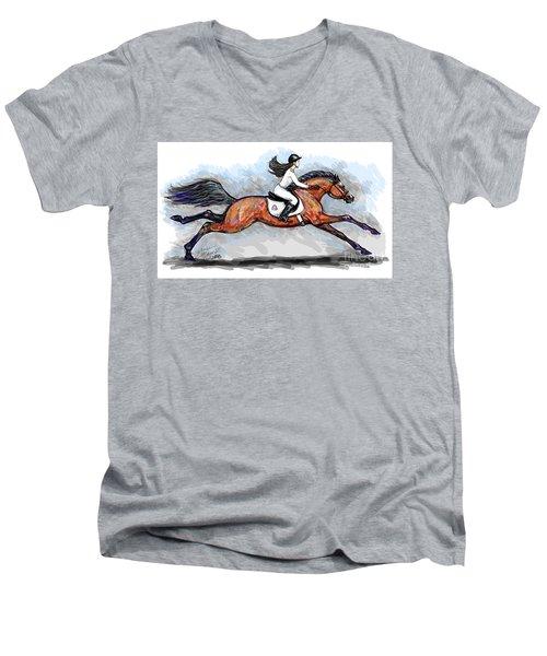 Sport Horse Rider Men's V-Neck T-Shirt