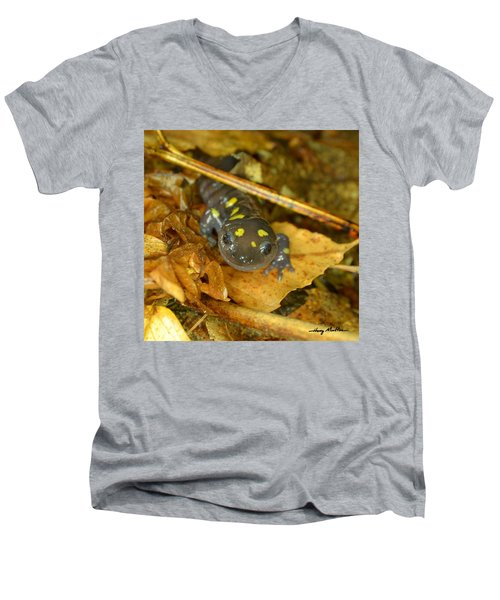 Spotted Salamander Men's V-Neck T-Shirt