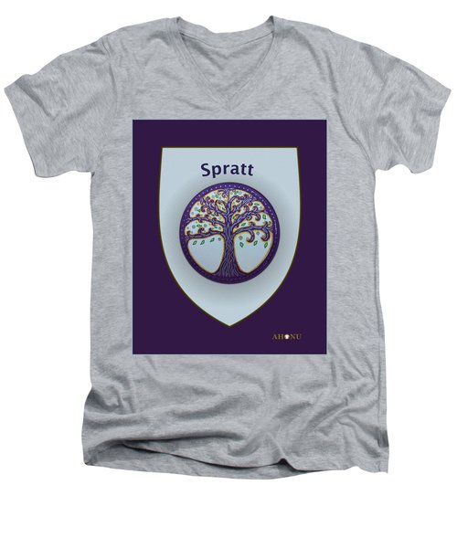 Spratt Family Crest Men's V-Neck T-Shirt