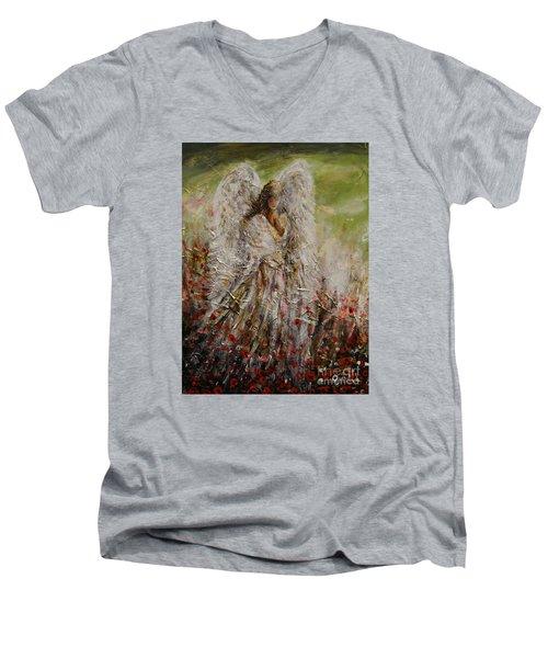 Spring Angel Men's V-Neck T-Shirt
