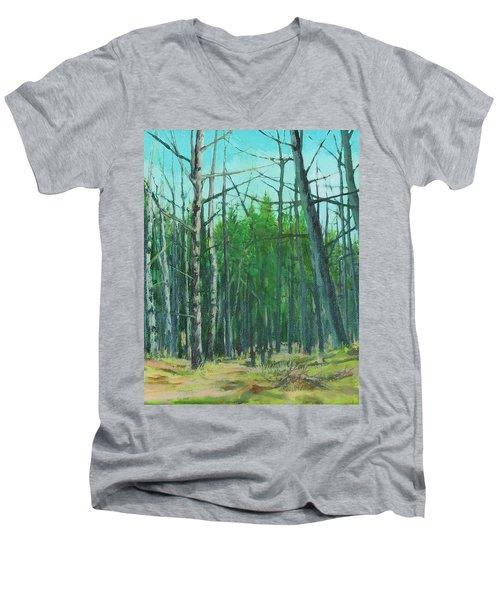 Spring Aspens Men's V-Neck T-Shirt