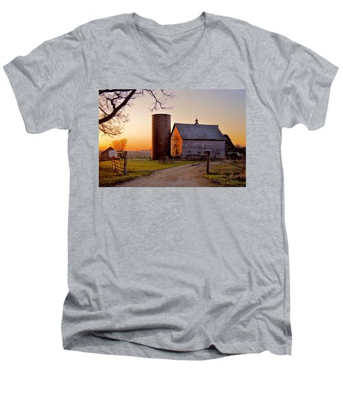 Spring At Birch Barn Men's V-Neck T-Shirt