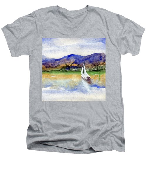 Spring At Our Island Men's V-Neck T-Shirt