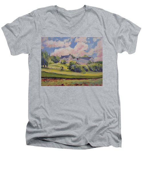 Spring At The Hoeve Zonneberg Maastricht Men's V-Neck T-Shirt by Nop Briex