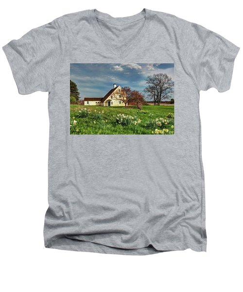 Spring At The Paine House Men's V-Neck T-Shirt