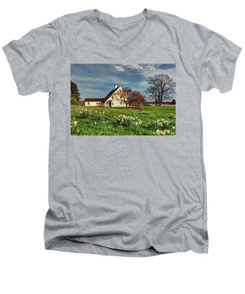 Spring At The Paine House Men's V-Neck T-Shirt