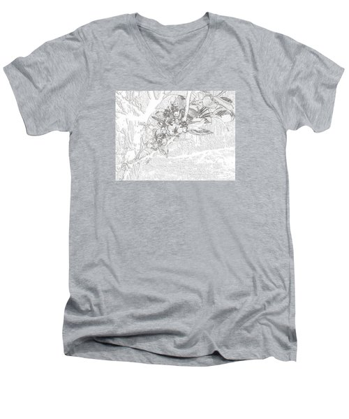Spring Blossums Men's V-Neck T-Shirt by Craig Walters
