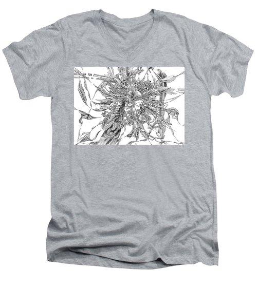Spring Burst Men's V-Neck T-Shirt by Charles Cater
