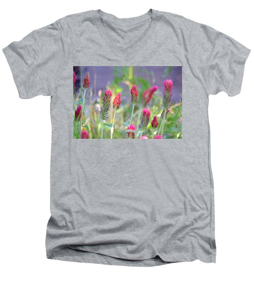 Spring Clover Men's V-Neck T-Shirt