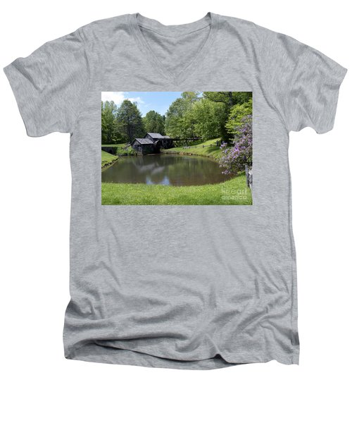 Spring Comes To Mabry Mill Men's V-Neck T-Shirt