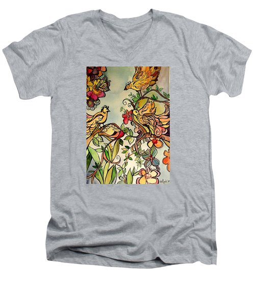 Spring Day Men's V-Neck T-Shirt by Claudia Cole Meek