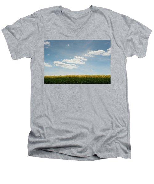 Spring Day Clouds Men's V-Neck T-Shirt