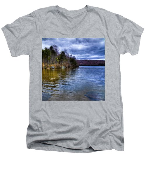 Spring Day On Limekiln Men's V-Neck T-Shirt by David Patterson