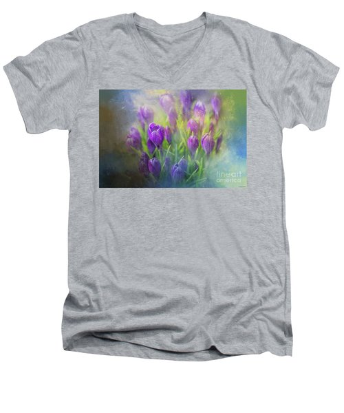 Spring Delight Men's V-Neck T-Shirt by Eva Lechner