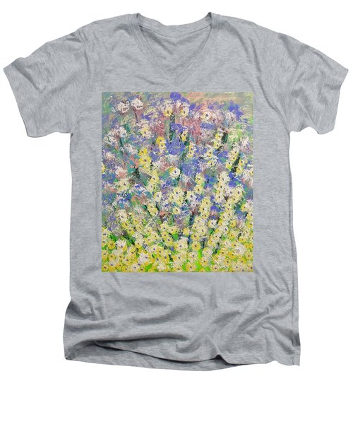 Spring Dreams Men's V-Neck T-Shirt by George Riney